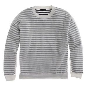 J. Crew Shadow-striped sweater